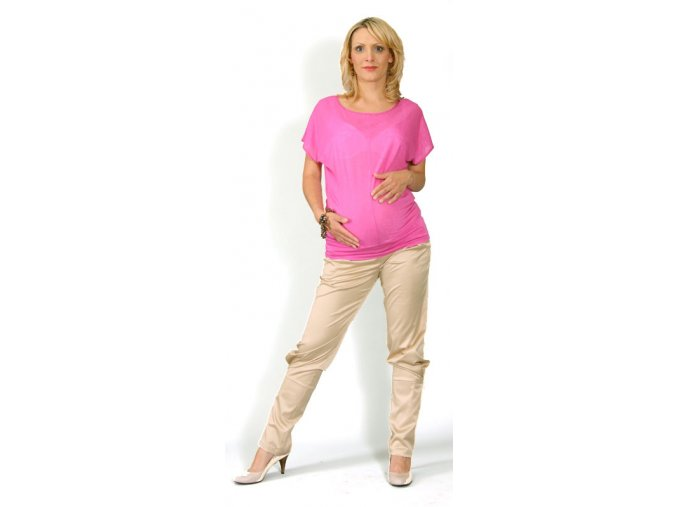 Těhotenské tričko Rialto Court růžové 0328 (Dámská velikost 36)