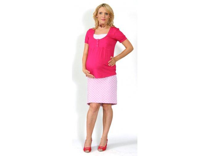 Těhotenské a kojící tričko Rialto Dine růžové 0297 (Dámská velikost 36)