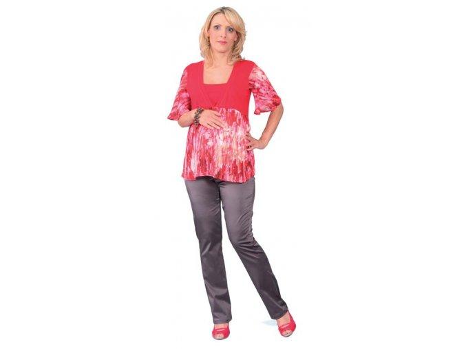 Těhotenské a kojicí tričko Rialto Dohan červená 0191 (Dámská velikost 36)