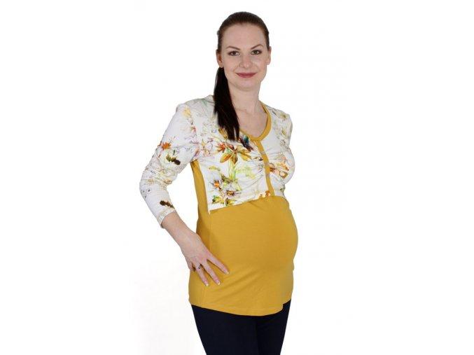 Těhotenské a kojící tričko Rialto DIRK 0423 (Dámská velikost 38)