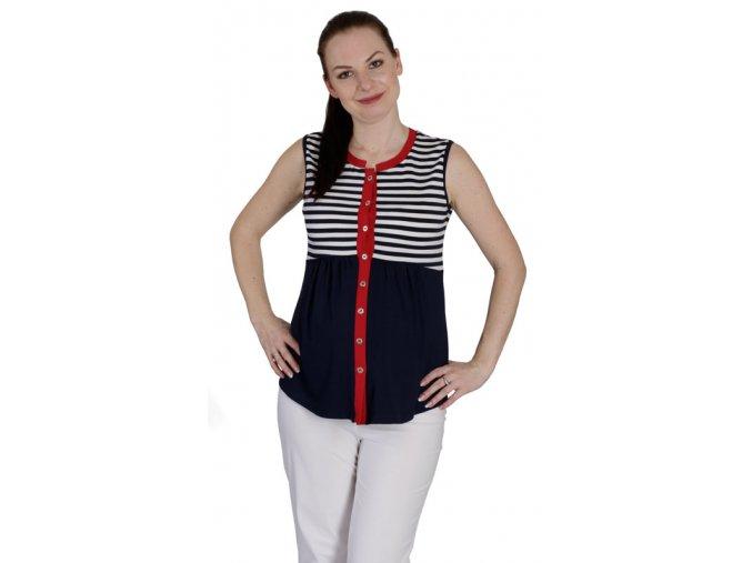 Těhotenské a kojící tričko Rialto Dena 0468 (Dámská velikost 36)