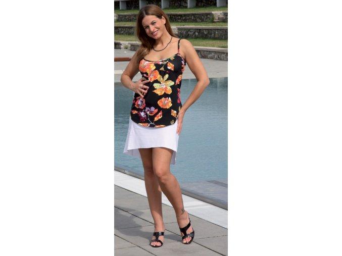 Těhotenské tílko Rialto Elly černá květ 0207 (Dámská velikost 38)