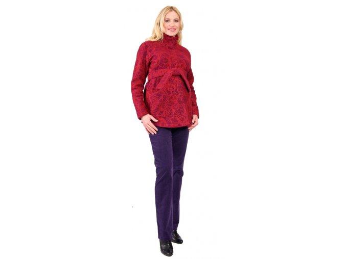 Těhotenský kabátek Rialto Molain - vínová 0141