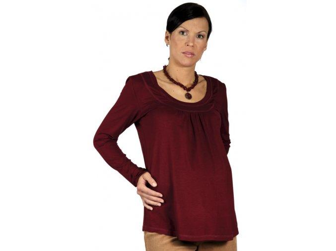 Těhotenské tričko Rialto Rimogne vínové 0155 (Dámská velikost 36)
