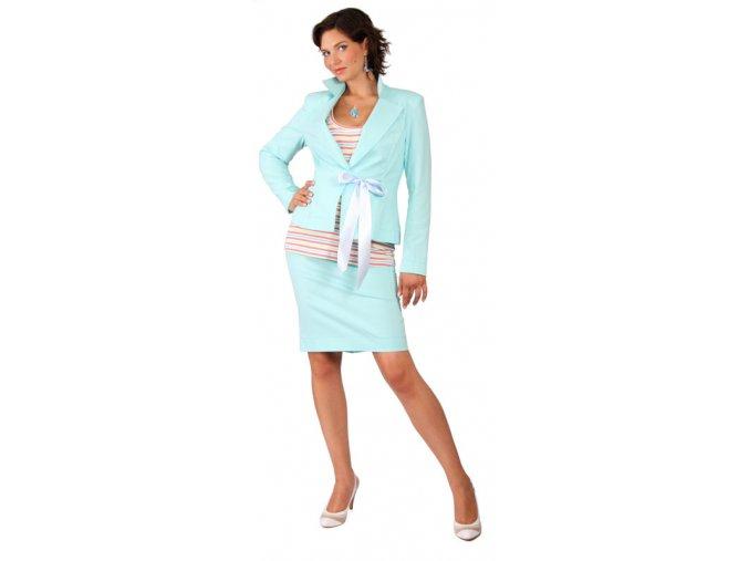 Těhotenské sako na zavazování s fazonou.