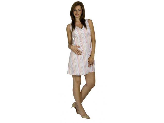 Těhotenské šaty Rialto Lintgen bílá s proužky 5952 (Dámská velikost 36)