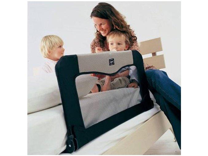 Cestovní zábrana k posteli+taška, Black 90 cm
