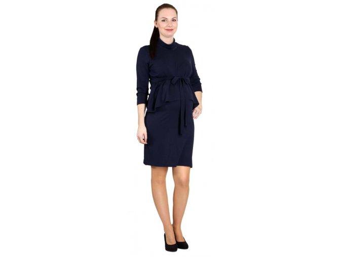 Teplejší těhotenské a kojící šaty Rialto Ledrove