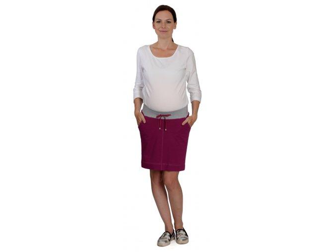 Těhotenská sukně Rialto Bogny fialová 0414