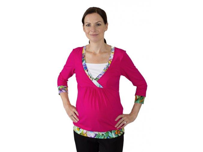Těhotenské a kojicí tričko Rialto Darle 0479 (Dámská velikost 36)
