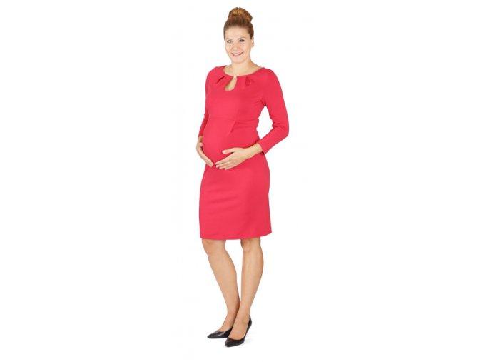 Těhotenské šaty Rialto Lecluse červené 0491 (Dámská velikost 36)