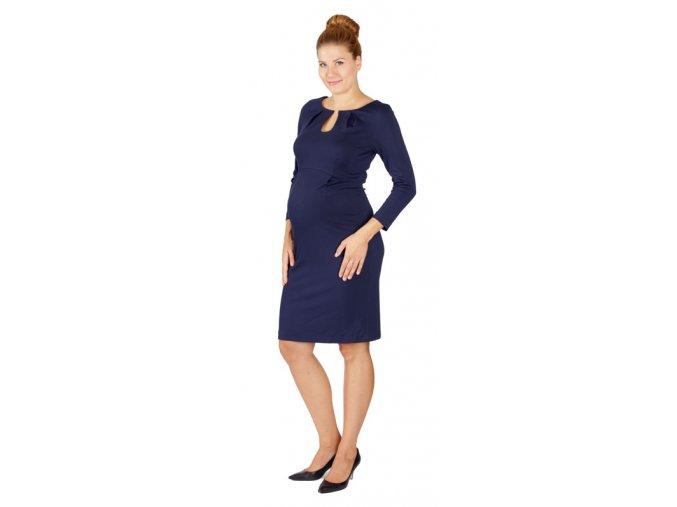 Těhotenské šaty Rialto Lecluse modré 0476 (Dámská velikost 36)
