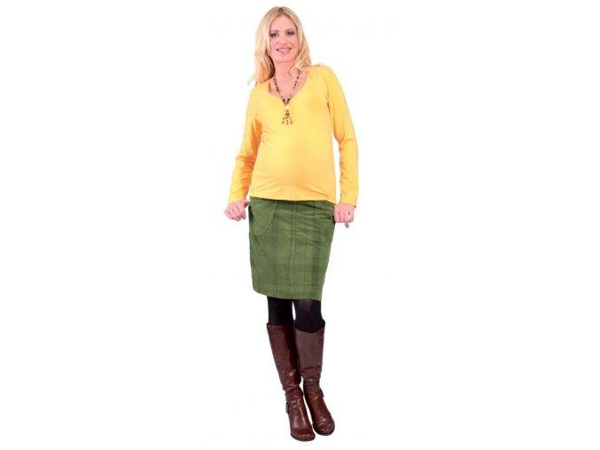 Těhotenské tričko Rialto Reves žlutá 0268 (Dámská velikost 36)