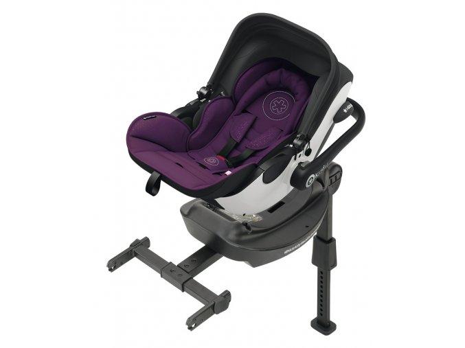Kiddy Evoluna i-size 2019 040 Royal Purple  včetně báze ISOFIX