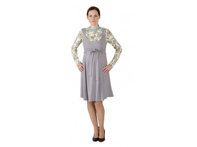 Těhotenské šaty ze silnějšího materiálu pro chladnější období