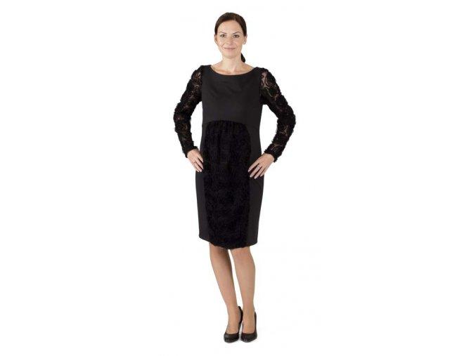 Jednoduché a velmi ženské těhotenské šaty vhodné na jakoukoliv slavnostní příležitost.