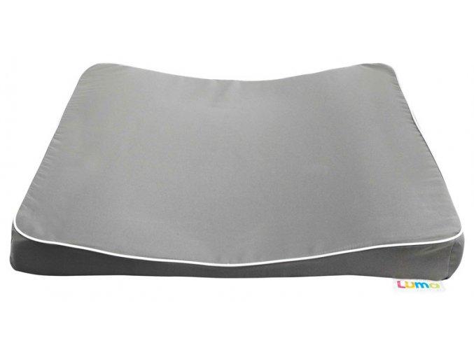 Velká přebalovací podložka LUMA XL dark grey