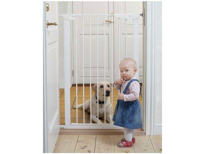 Vysoká zábrana Babydan Premier PET GATE 73-86 cm bílá
