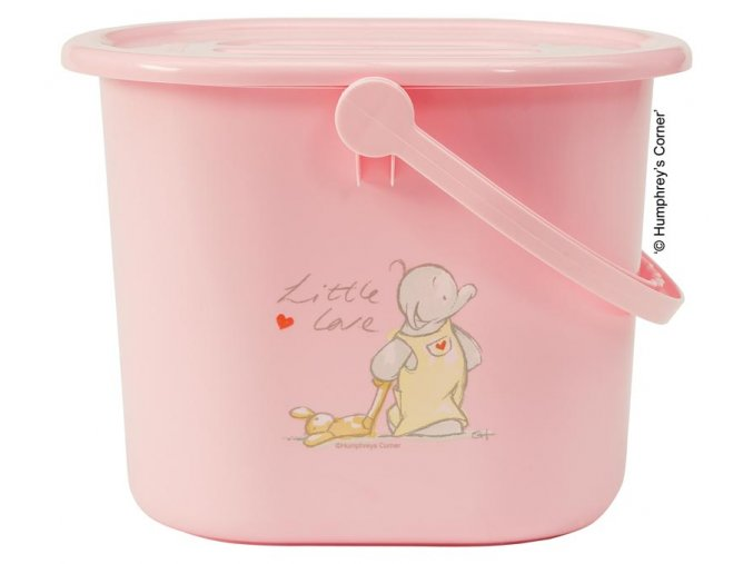 Kyblík na pleny s víkem Bébé-Jou Humphrey růžový  Rozbaleno z výstavy
