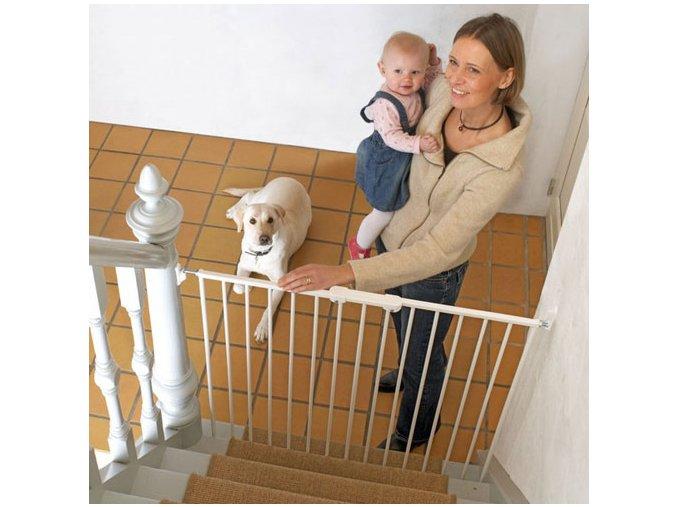 Zábrana Pet Gate Streamline, kov bílá 63,5-107 cm