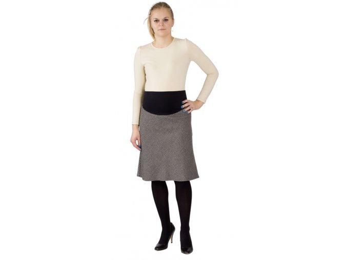Těhotenská sukně Rialto Barisis černobílá 0144