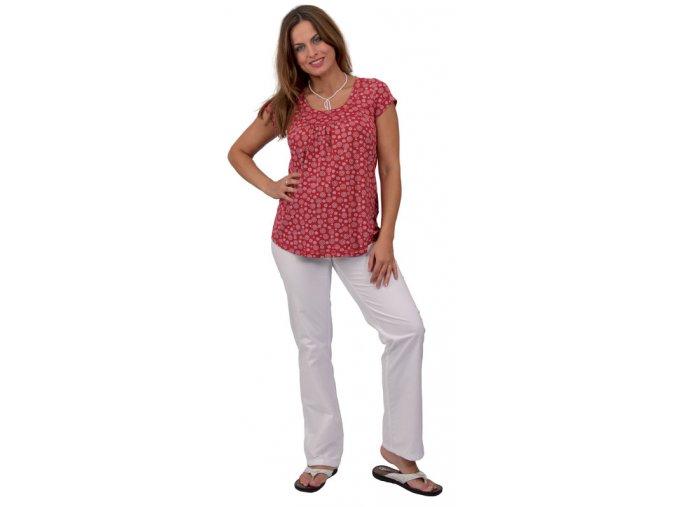 Těhotenské tričko Rialto Remich červená květ 0177 (Dámská velikost 46)