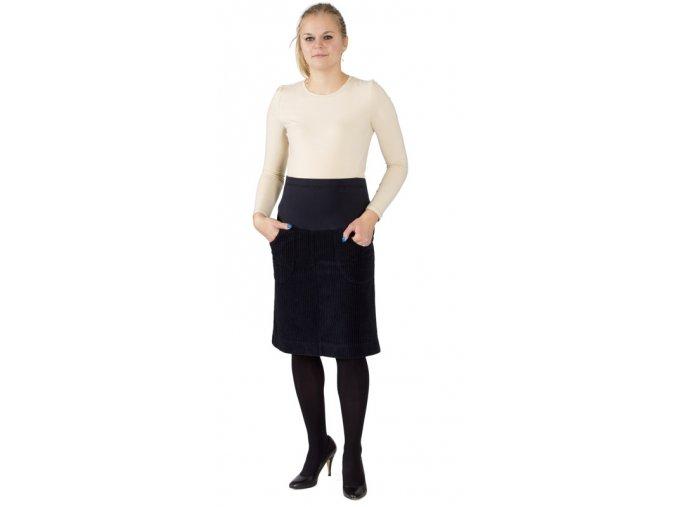 Těhotenská manžestrová sukně Rialto Barcin černá 19234