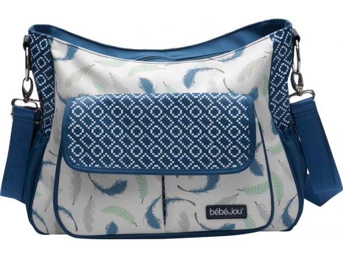 Luxusní přebalovací taška Bébé-Jou Little Dreamer pírka