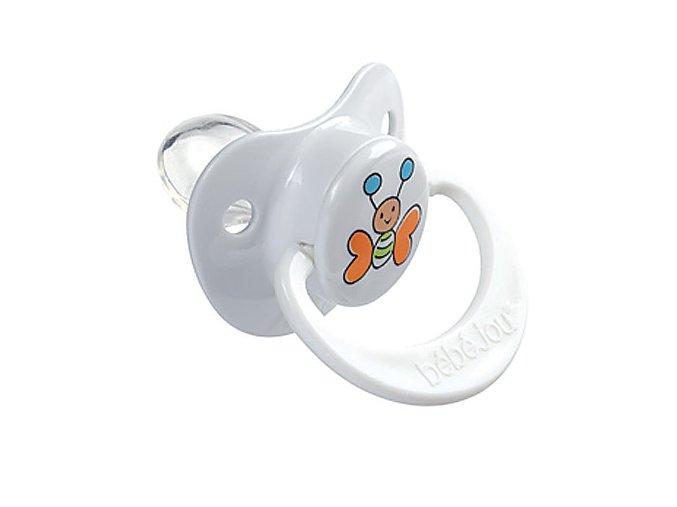 Dudlík-silikon 12+M Bébé-Jou Butterfly