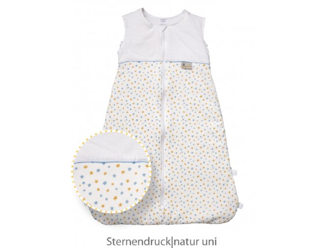 Climarelle & Jersey Schlafsack Sternendruck + natur uni