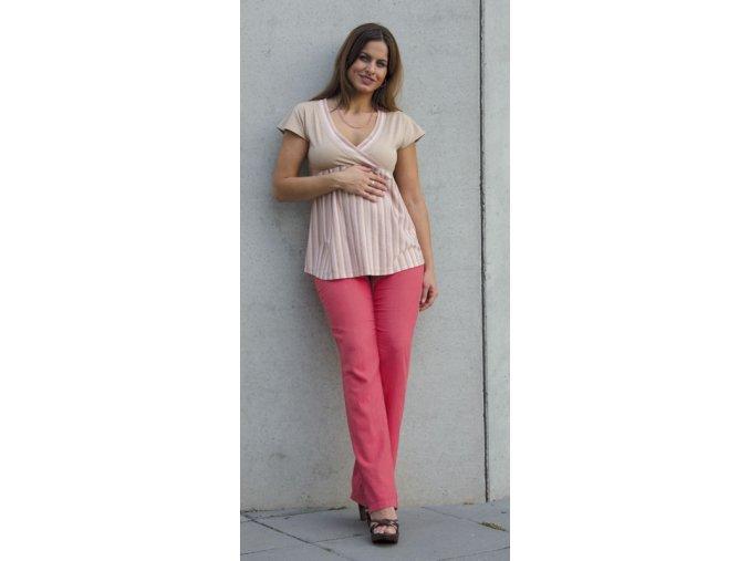 Těhotenské tričko z organické bavlny Rialto Doncols 0180 (Dámská velikost 36)