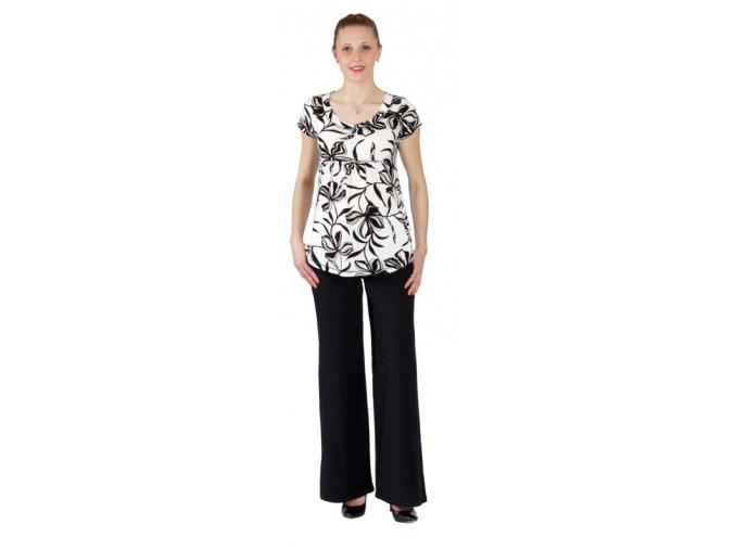 Těhotenské tričko Rialto Salice bílé s květy 6479 (Dámská velikost 36)