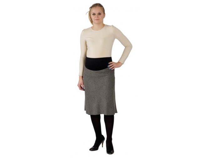 Těhotenská sukně Rialto Brenish šedá 2016