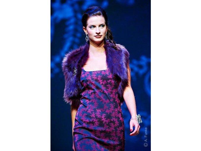 Dámské šaty Rialto HARPA černá s růžovým vzorem 0363
