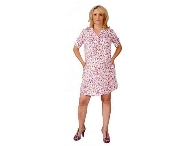 Bavlněné těhotenské šaty košilového střihu
