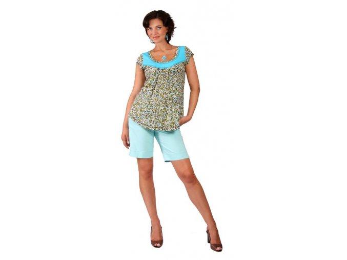 Těhotenské tričko Rialto Remich tyrkysový puntík 0258 (Dámská velikost 36)