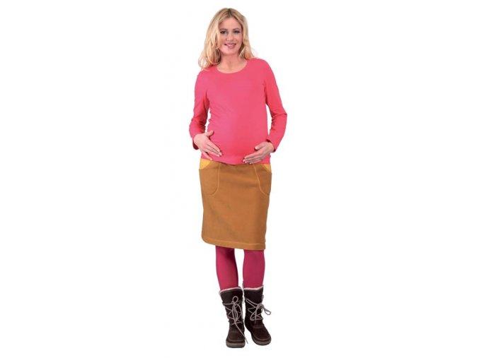 Těhotenská sukně Rialto BRECHT okrová 0281