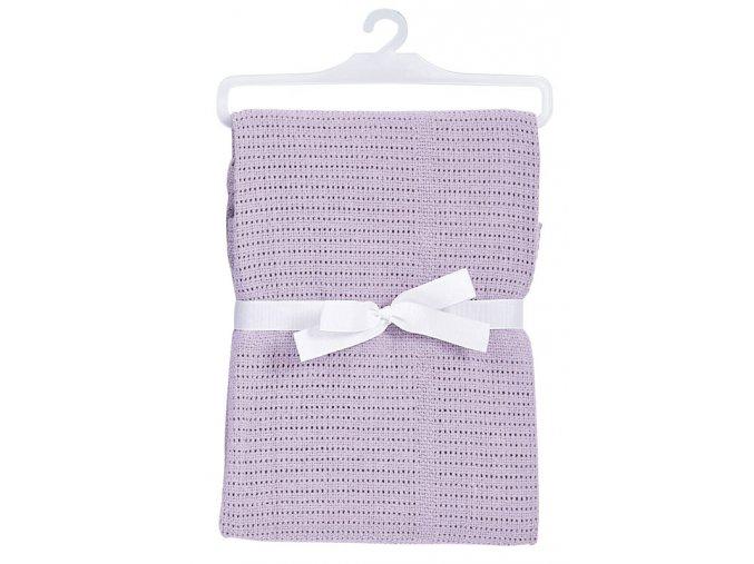 Bavlněná deka do kočárku v barvě levandule