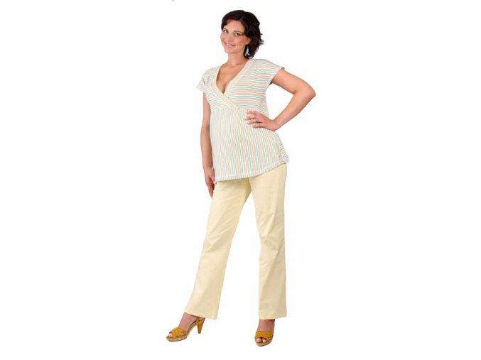 Těhotenské tričko Rialto Doncols zelené pruhy 0266 (Dámská velikost 36)
