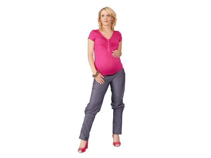 Těhotenské a kojicí tričko Rialto Dison růžové 0297 (Dámská velikost 38)