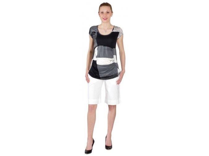 Těhotenské tričko Rialto Piana bílošedočerná 4397 (Dámská velikost 36)