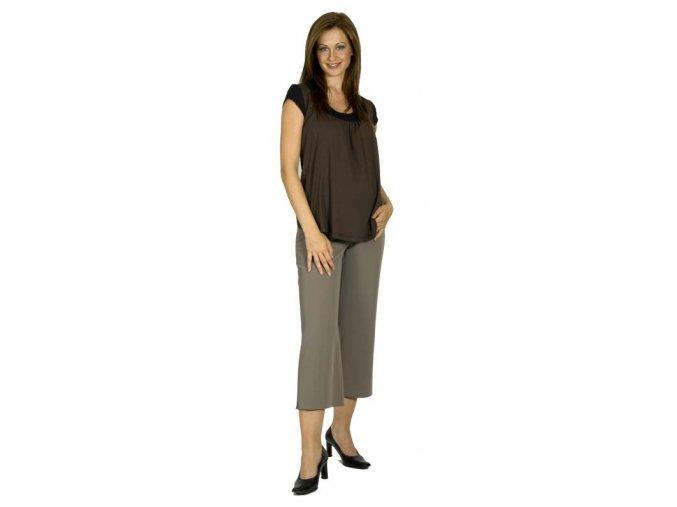 Těhotenské 3/4 kalhoty Rialto ELL šedohnědé 0126 (Dámská velikost 38)