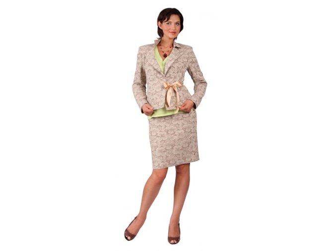 Těhotenská sukně Rialto Bever hnědá+květ 0264