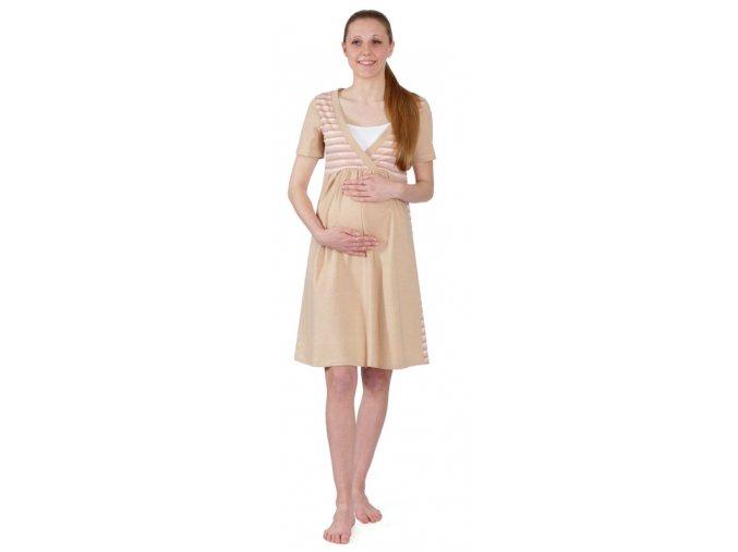 Těhotenská a kojící noční košile z organické bavlny.