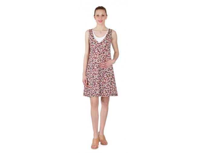 Těhotenské a kojící šaty Rialto Laarne růžový puntík 0257 (Dámská velikost 36)
