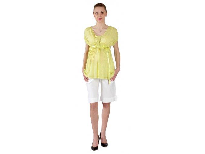 Těhotenské tričko Rialto Crepy světle zelené 0327 (Dámská velikost 36)