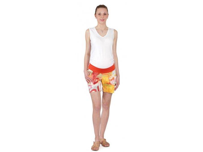 Těhotenské šortky Rialto Son - oranžová divočina 5390 (Dámská velikost 36)
