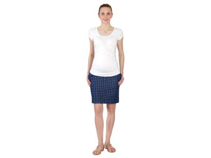 Těhotenské tričko Rialto Pino bílá 0098 (Dámská velikost 38)