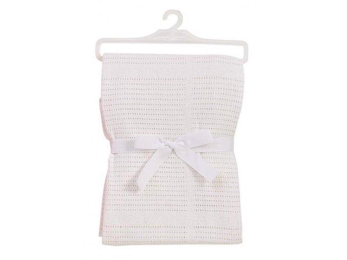 Bavlněná deka do kočárku bílá