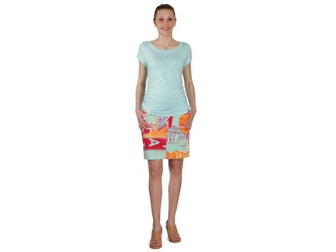 Těhotenské tričko Rialto Nonza modrá 0068 (Dámská velikost 42)